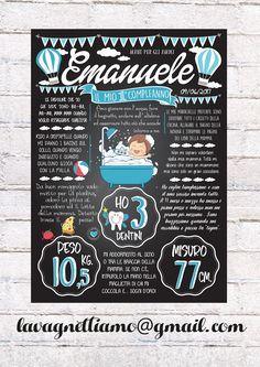 Le lavagne primo compleanno sono il ricordo più dolce e bello che possiamo fare ai nostri bimbi!