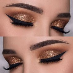 Image result for gold eye makeup