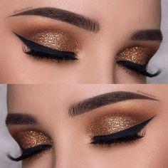 Image result for gold eye makeup
