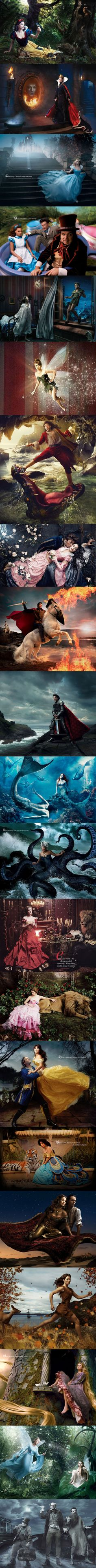 Celebs as Disney characters -  photos by Annie Leibovitz.