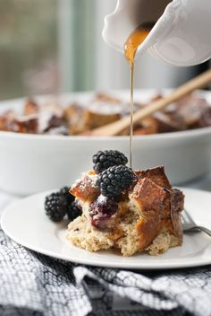 Baked Whole Grain Blackberry French Toast. Make it ahead, and bake the next day. The best breakfast/brunch food!