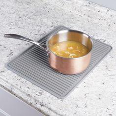 InterDesign 63783 Lineo Kitchen Silicone Gray Dish Drying Mat Trivet Large – Kitchen Accessories – Home & Kitchen - GreyDock.com