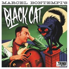Marcel Bontempi - Black Cat at Discogs Marcel, Google Images, Album Covers, Graphic Design, Cats, Fitness, Movie Posters, Black, Fur