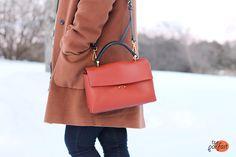 lady-like satchel by marni :: orange chocolate truffle