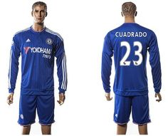 Chelsea #23 Cuadrado New Blue Long Sleeves Soccer Club Jersey The Best Men's Cycling Clothing