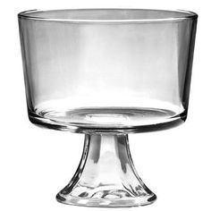 I need a Trifle dish. I heard they are a lot less. This is a reminder to look for one so I don't have to borrow DS's. Everything looks fancier in a trifle bowl.