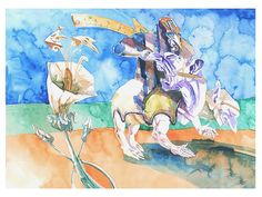 geometry Watercolor Illustration, Watercolors, Geometry, Illustrations, Anime, Painting, Art, Pen And Wash, Art Background