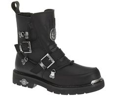 Harley-Davidson footwear men's performance Distortion engineer boots with hardware details loaded with riding features