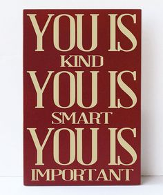 Loving this Red & Cream 'You Is Kind' Wall Sign on #zulily! #zulilyfinds