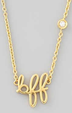 BFF necklace. so sweet!