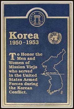 Mission Viejo Korea Plaque