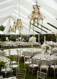 Open air marquee and round dance floor