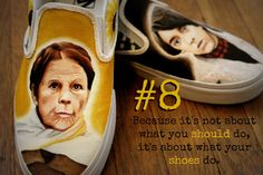 Reason #8 to buy custom to order, hand painted 1 of Two shoes. #haroldandmaude #vans #cinephile #fanart