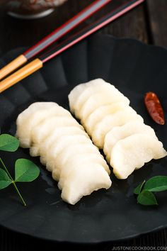 Also known as tsukemono, this sweet & savory Pickled Daikon with Shio Koji is a delicious side dish to any Japanese meal! Indian Food Recipes, Asian Recipes, Gourmet Recipes, Cooking Recipes, Indian Snacks, Cooking Tips, Dinner Recipes, Japanese Grocery, Japanese Food