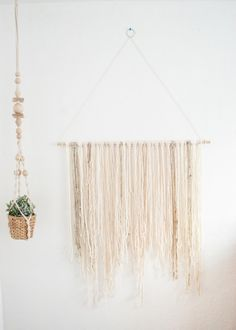 Boho Wall Hanging large yarn wall hanging | boho wall decor | bohemian | yarn