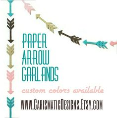 Arrow Garland Tribal Birthday Garland Baby by CarismaticDesigns