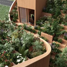 Penda unveiled designs for Yin & Yang House, an off-grid home Kassel, Germany with a stunning rooftop garden. Green Architecture, Landscape Architecture, Landscape Design, Garden Design, House Design, House Landscape, Yin Yang, Houses In Germany, House Ideas