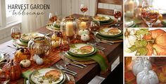 Harvest Garden | Pier 1 Imports Orange pumpkin tablescape
