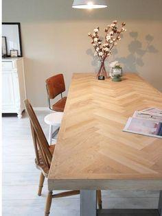 Afbeeldingsresultaat voor visgraat tafel