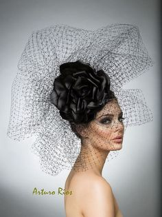 Hey, I found this really awesome Etsy listing at https://www.etsy.com/listing/226647302/black-couture-headpiece-avant-garde-hat