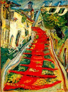 Chaim Soutine, L'escalier rouge a Cagnes (Soutine: L'ordre du chaos. Musee de l'Orangerie, Paris)