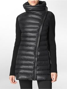 Calvin Klein Performance Asymmetrical Zip Front Puffer Down Jacket on shopstyle.com