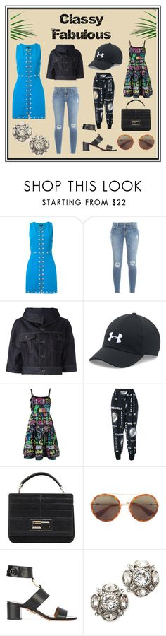"""""""Classy & Fabulous"""" by cate-jennifer ❤ liked on Polyvore featuring Versus, Frame, Diesel Black Gold, Under Armour, Moschino, STELLA McCARTNEY, Elie Saab, Gucci, Aquazzura and Oscar de la Renta"""