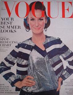 Brigitte Bauer, photo by William Klein, Vogue US, April 1965*