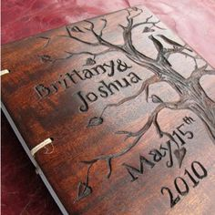 Wedding Guest Book Personalized Custom Made Reserved For Kalene