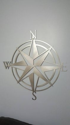 Nautical Compass Wall Art by UpstateMetalDesigns on Etsy