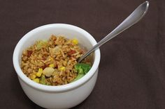 Baked Chili Brown Rice and Vegetables | Relishments.com
