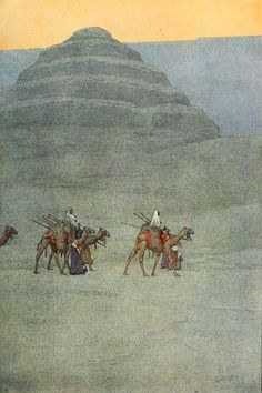 Guerin, Jules (1866-1946) - Egypt and its Monuments 1908, The step pyramid of Sakkara. #egypt