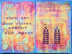 Yours Artfully: My A3 journal. Stencils by StencilGirl