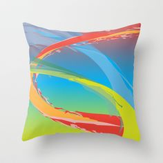 Abstract 140 Throw Pillow cover by Ramon Martinez Jr - $20.00
