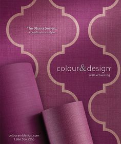 Creative Design And Photography For Colour Designs ObanaTM Series Wall Covering Advertisement In The April 2013 Issue Of Interior Magazine