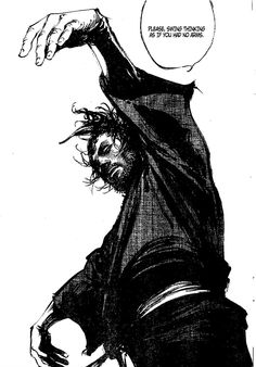 "Sword saint Miyamoto Musashi from the manga ""Vagabond"""