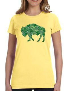 Ladies T-shirt Irish Shamrock Buffalo Alison by InspiredBuffalo
