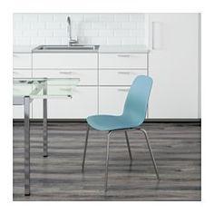 LEIFARNE Chair, Light Blue, Broringe Chrome - IKEA