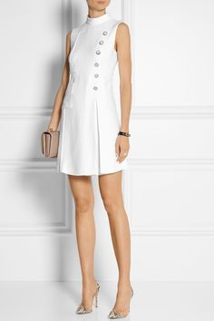 MIU MIU Embellished pleated cady dress €1,500.00 http://www.net-a-porter.com/products/522830