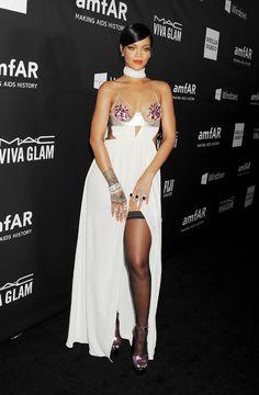 Rihanna à l'AmfAR Gala en l'honneur de Tom Ford en octobre 2014