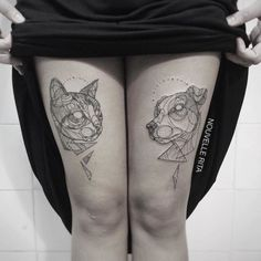 Artist Uses Bold Lines to Create the Most Beautiful Linear Tattoos Ever - BlazePress