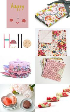 Happy Pink by Annemarie and Valérie (Fifi's Dream) on Etsy--Pinned with TreasuryPin.com