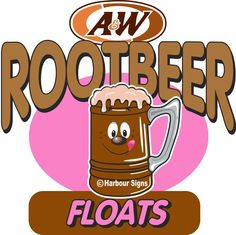 "Root Beer Floats 24"" Decal Concession Drinks Ice Cream Soda Food Truck Sticker #harbourSigns"