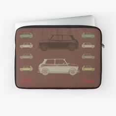 'Vintage Cars Choco' Laptop Sleeve by emilypigou Christmas Gifts For Men, Best Gifts For Men, Cool Gifts, Chocolate Color, Xbox One Games, Sleeve Designs, Back To Black, Laptop Case, Sell Your Art