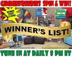 GimmieFreebies Holiday 2019 Giveaway: Spin to Win Giveaways ! Free Stuff, Free Samples & Full Size, Freebies Online, Free by Mail Holiday Gift Guide, Holiday Gifts, Spinning, Presents, Winning Numbers, Free Stuff, Elvis Presley, Giveaways, Christmas