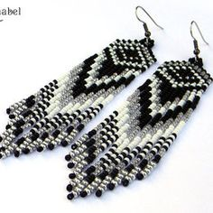 Gray Native American Earrings