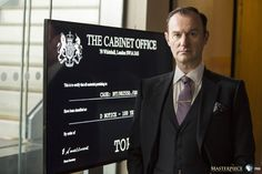 SHERLOCK (BBC) ~ S4 photo: Mycroft Holmes (Mark Gatiss)