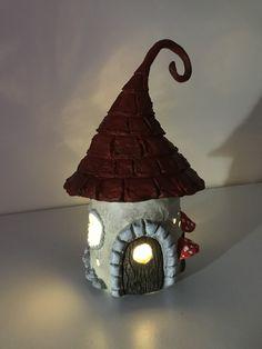 Paper Clay & Jar Fairy House