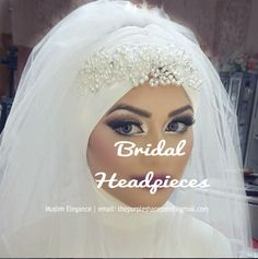 Ready to wear bridal and party hijabs -no pins needed all colors and sizes muslimelegance.bl... e-mail thepurplesharepoint@gmail.com