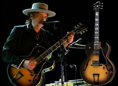 Bob Dylan playing an ES 175. Very cool.